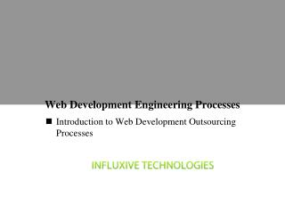 Web Development Engineering Processes