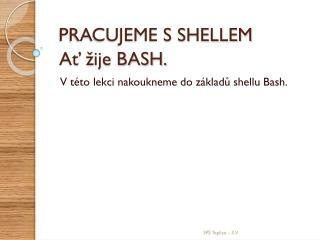 Ať žije BASH.