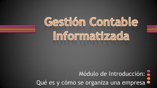 Gestión Contable Informatizada