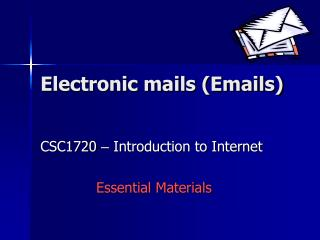 Electronic mails Emails
