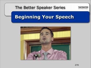 Beginning Your Speech