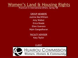 Women's Land & Housing Rights
