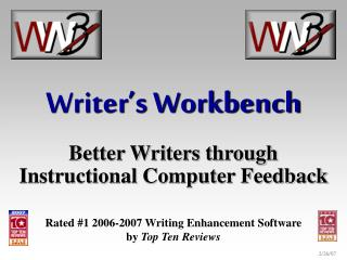 Writer's Workbench Better Writers through Instructional Computer Feedback