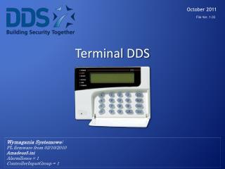 Terminal  DDS