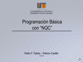 """Programación Básica con """"NQC"""""""