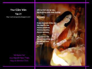 Thơ  Cẩm Vân Tập 21 camvanspoetry.blogspot/