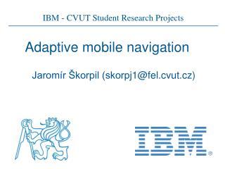 Adaptive mobile navigation