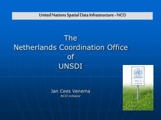 United Nations Spatial Data Infrastructure - NCO