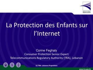 La Protection  des  Enfants sur l'Internet