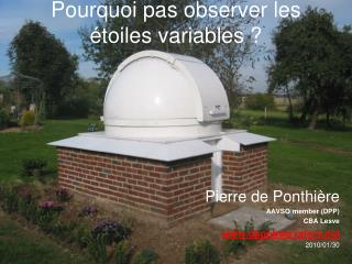 Pourquoi pas observer les étoiles variables ?