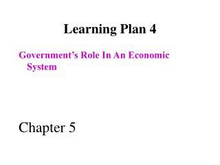Learning Plan 4