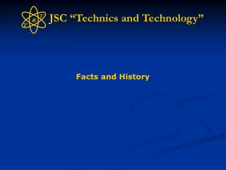 "JSC ""Technics and Technology"""