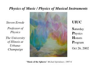 Physics of Music / Physics of Musical Instruments