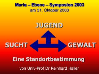 von Univ-Prof Dr Reinhard Haller