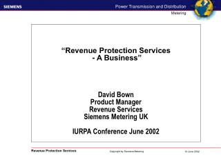 Revenue Protection - from a department to a business