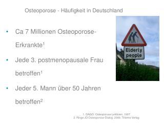 Osteoporose - Häufigkeit in Deutschland