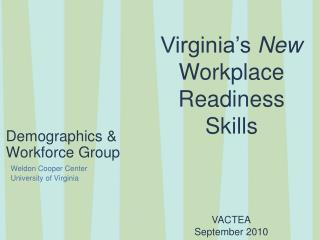 Demographics & Workforce Group