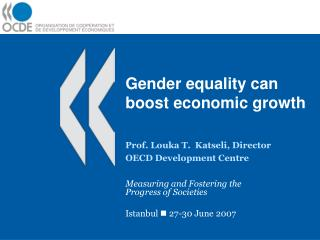 Gender equality can boost economic growth