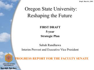Oregon State University: Reshaping the Future