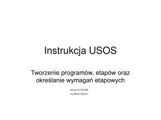 Instrukcja USOS