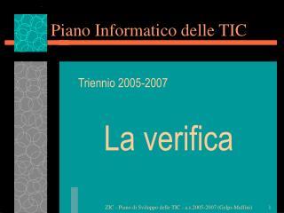 Piano Informatico delle TIC