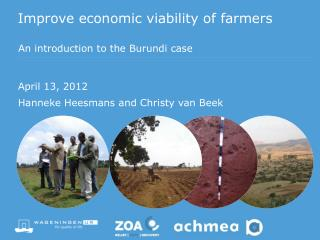 Improve  economic viability of farmers