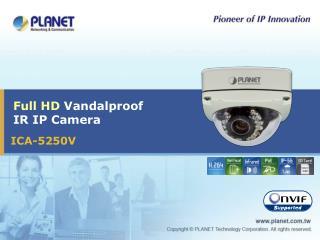 Full HD  Vandalproof IR IP Camera