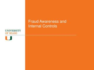 Fraud Awareness and Internal Controls