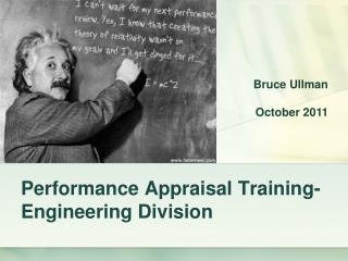 Performance Appraisal Training-Engineering Division