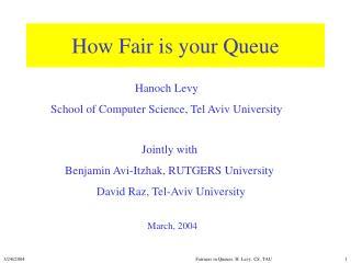 How Fair is your Queue