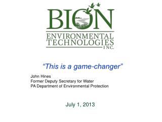 """This is a game-changer"" John Hines Former Deputy Secretary for Water"