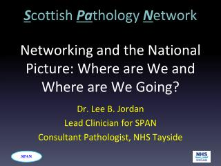 Networking and the National Picture: Where are We and Where are We Going?