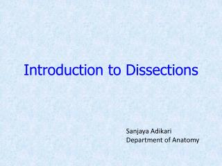 Introduction to Dissections