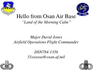 Airfield Operations  and  Contingency Operations