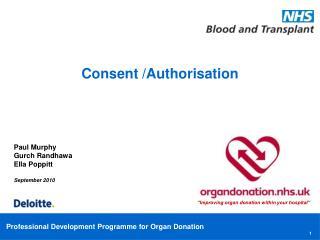 Consent /Authorisation