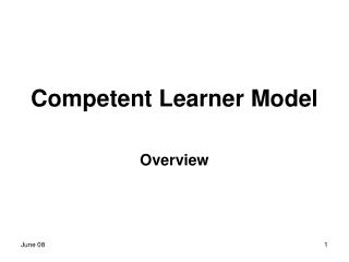 Competent Learner Model