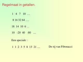 Regelmaat in getallen.