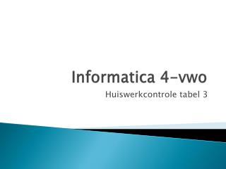 Informatica 4-vwo