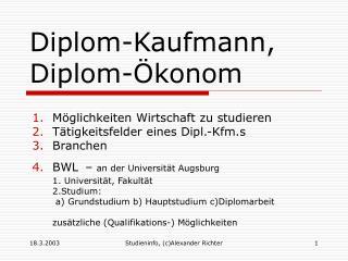 Diplom-Kaufmann,  Diplom-�konom