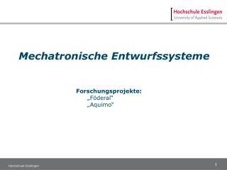 Mechatronische Entwurfssysteme