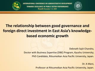 Debnath Sajit Chandra, Doctor with Business Expertise (DBE) Program, Kyushu University;