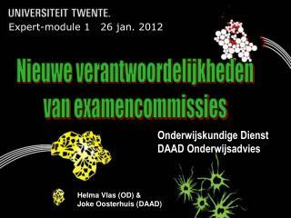 Expert-module 1   26 jan. 2012