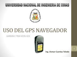 USO DEL GPS NAVEGADOR