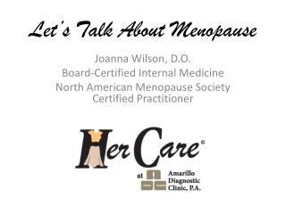Let's Talk About Menopause