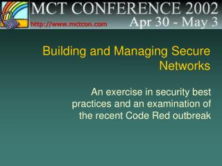 Building and Managing Secure Networks