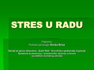 STRES U RADU