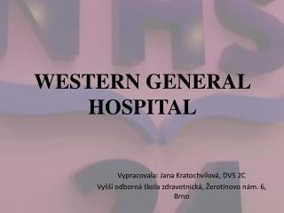 WESTERN GENERAL HOSPITAL