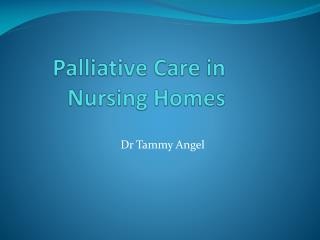 Palliative Care in Nursing Homes