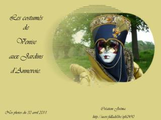 Les costumés de Venise aux Jardins  d'Annevoie.