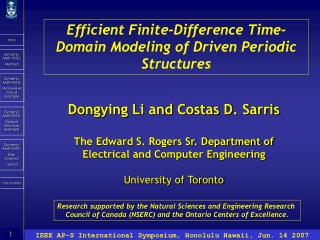 Efficient Finite-Difference Time-Domain Modeling of Driven Periodic Structures